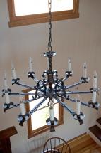 chandelier in main sitting area