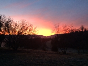 sunrise at River Bluff Farm Bed & Breakfast