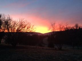 sunrise at River Bluff Farm Bed & Breakfast